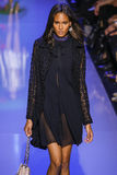 Cindy Bruna walks the runway during the Elie Saab show Stock Images