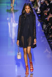 Cindy Bruna walks the runway during the Elie Saab show Royalty Free Stock Images