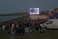 Cine al aire libre de la película Imagenes de archivo