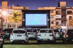 Cine Autorama w Campo Grande - MS przy Pracą robi tata zdjęcia royalty free