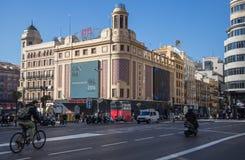 Cine Callao in Madrid. Cine Callao cinema building in Madrid, Spain stock images