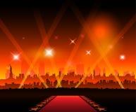 Cine de la alfombra roja de la película de New York City stock de ilustración