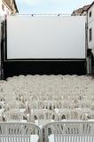 Cine del aire abierto Foto de archivo libre de regalías