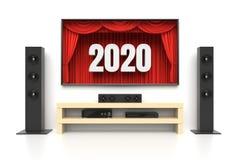 Cine del hogar del Año Nuevo 2020 Foto de archivo libre de regalías