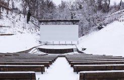Cine del verano en invierno imagen de archivo