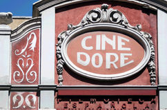Cine dore. Building in Madrid Stock Images