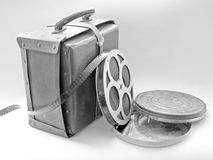 Cine Film. And case Stock Photo