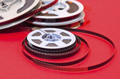 Cine film  reels. Still life of 8mm cine film  reels Royalty Free Stock Photography