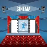 Cine Hall Background Imágenes de archivo libres de regalías