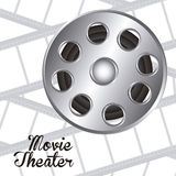 Cine icon. Illustration of icon of cinema, film reel, vector illustration Royalty Free Stock Image