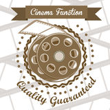 Cine icon. Illustration of icon of cinema, film reel, vector illustration Royalty Free Stock Photo