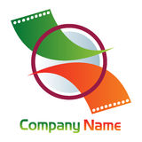 Cine media logo Royalty Free Stock Image