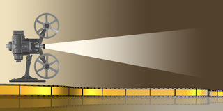 Cine or movie camera Royalty Free Stock Images
