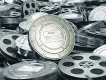 Cine o concepto de la película El vídeo aspa fondo imagenes de archivo