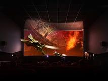Cine olográfico 3D foto de archivo libre de regalías