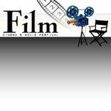 Cine y festival de la película Foto de archivo libre de regalías