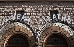 Cine y teatro Fotos de archivo libres de regalías