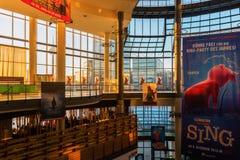 Cinedom戏院的里面看法在科隆 免版税库存照片