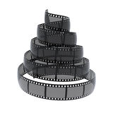 Cinefilm spiral Stock Photography
