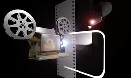 Cinema. Objects related with cinema. Projector and camera Stock Image