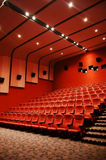 Cinema. A red tone modern cinema Royalty Free Stock Images