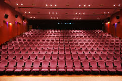 Cinema. Overall view of a modern cinema Royalty Free Stock Image