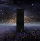 Cinema. Strange Monolith on Lifeless Planet stock illustration