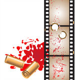 Cinema. Vector illustration with various strips of cinema Stock Photo