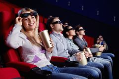 In the cinema Royalty Free Stock Images