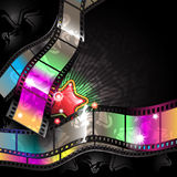 Cinema. Colored background on the topic of cinema royalty free illustration