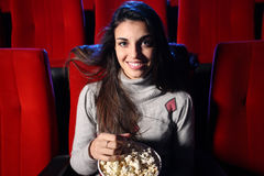 At cinema Stock Images