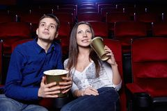 At the cinema Royalty Free Stock Images
