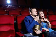 In the cinema Royalty Free Stock Image