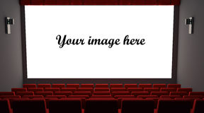 Cinema. With place for your image on screen Stock Images