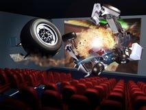 cinema 3D ilustração stock