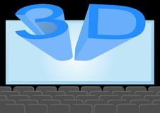 Cinema 3D Stock Photo