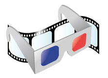 Cinema 3D Glasses Stock Photos