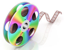 Cinema. Video CD . Conceptual 3d rendered illustration Stock Images