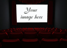 Cinema. With place for your image on screen Royalty Free Stock Photos