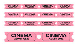 Cinema admit one tickets Stock Image