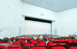 Cinema and the audience Royalty Free Stock Photos