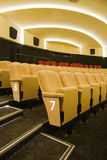 Cinema auditorium. Row #7 in interior of cinema auditorium Royalty Free Stock Images