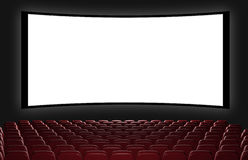 Cinema auditorium. 3d rendering. View on the screen vector illustration