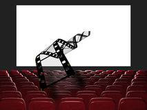 Cinema auditorium. Royalty Free Stock Image