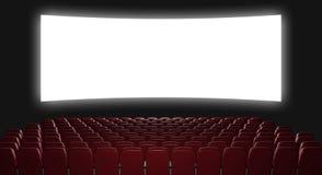 Cinema auditorium. 3d rendering. View on the screen stock illustration