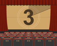 Cinema auditorium with seats Royalty Free Stock Photography
