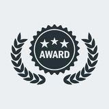 Cinema award medal. Film Award for best film. Movie Theater, Cinematic Award, Movie Premiere. Flat vector cartoon illustration. Objects isolated on a white Royalty Free Stock Photo