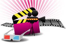 Cinema background Royalty Free Stock Images