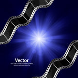 Cinema background. Vector film strip cinema background Royalty Free Stock Images