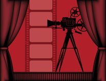 Cinema background Stock Image